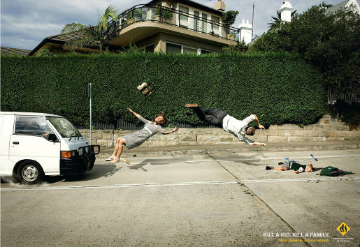 Pedestrian Council of Australia print advertisement - White Family