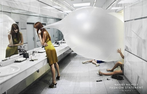Harvey Nichols Bathroom print advertisement