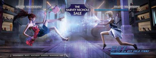 Harvey Nichols Sale Fighters print advertisement