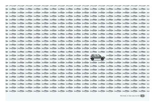 Kia Fish print advertisement