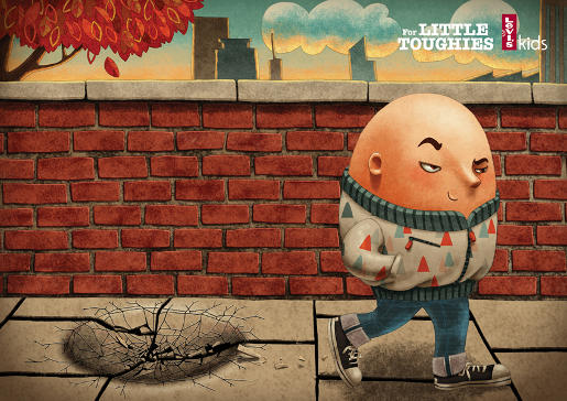 Levi's Kids Humpty Dumpty print advertisement