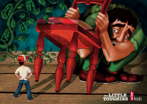 Levi's Kids Jack and the Beanstalk print advertisement