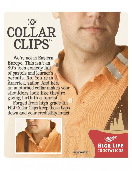 Miller High Life Collar Clips