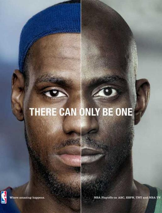 NBA LeBron and Garnett in There Can Only Be One advertisement