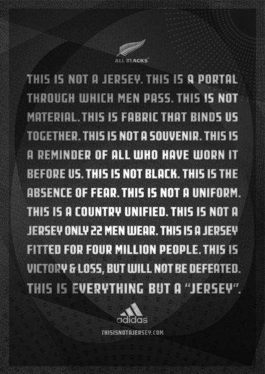 Adidas This Is Not A Jersey Manifesto poster