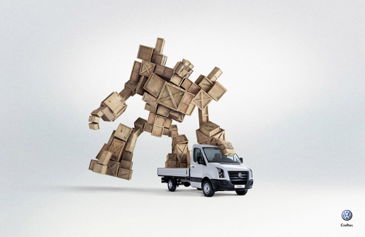 Volkswagen Crafter with Robot