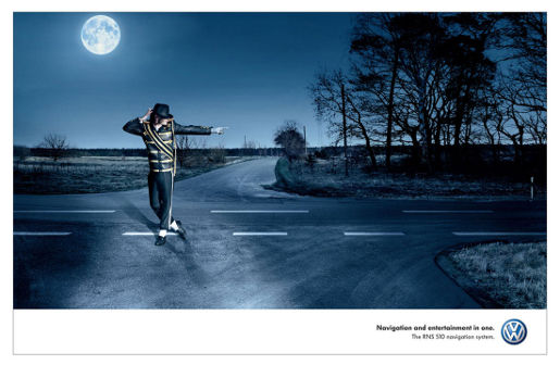 Michael Jackson in Volkswagen 510 Navigation print advertisement