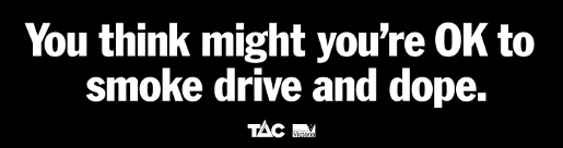 TAC Drug Driving advertisement