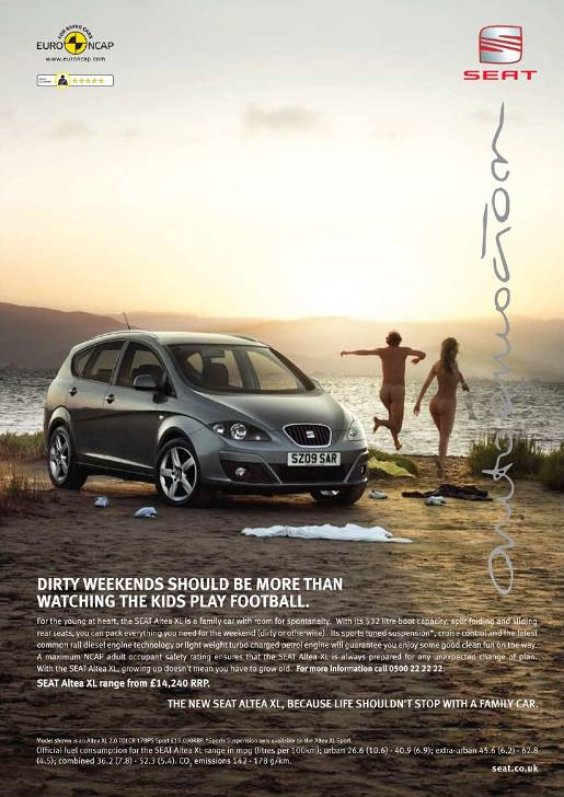Altea Dirty Weekend print advertisement