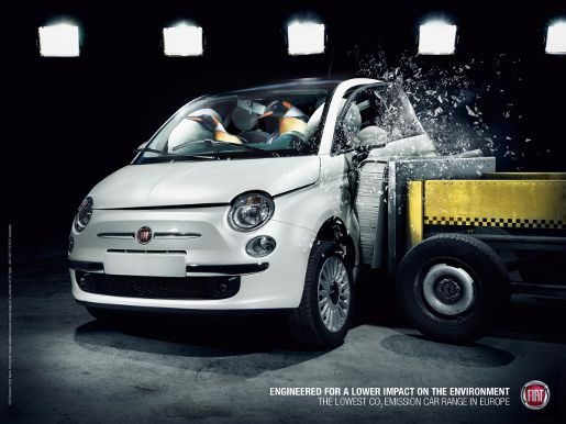 Fiat Penguins print advertisement