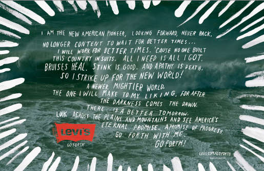 Levis Go Forth advertisement