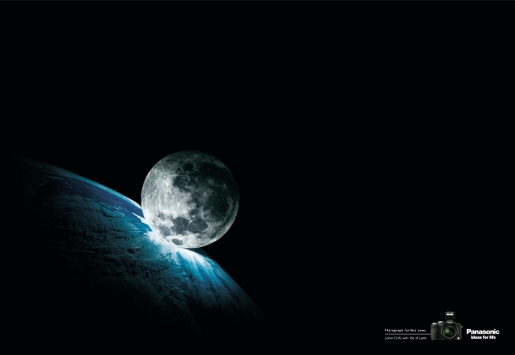 Panasonic Lumix Moon print advertisement