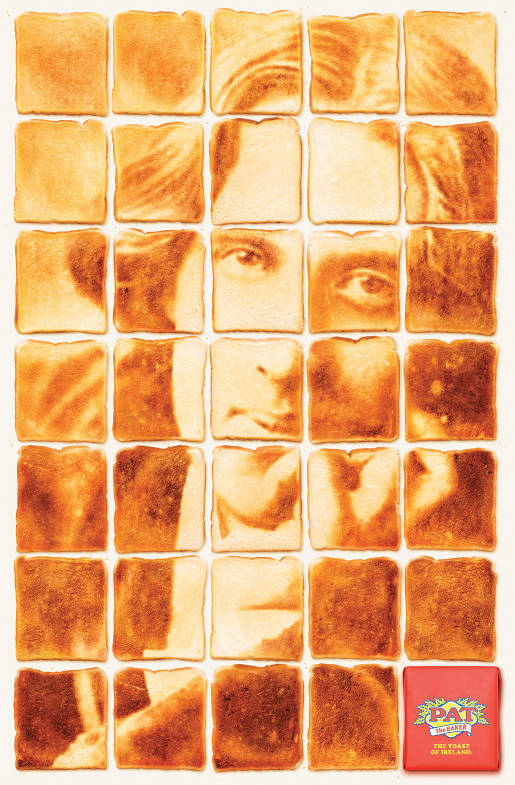 Oscar Wilde in Pat the Baker Toast print advertisement