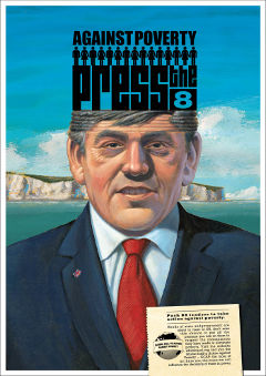 Gordon Brown in Press the 8 Postcard