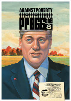 Steven Harper in Press the 8 Postcard