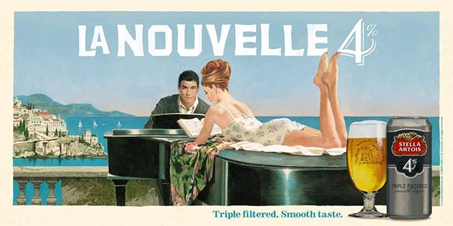 Stella Artois 4 La Nouvelle Piano movie poster by William McGinnis