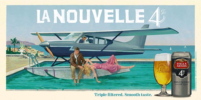 Stella Artois 4 La Nouvelle Seaplane movie poster by William McGinnis