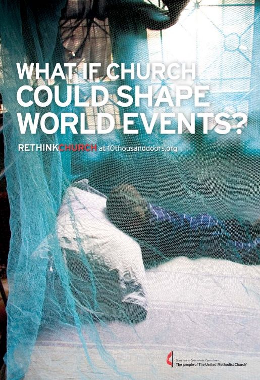United Methodist Rethink Church print advertisement 10 Thousand Doors