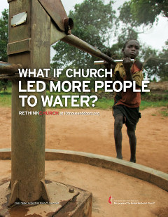 United Methodist Rethink Church Finding Water print advertisement 10 Thousand Doors