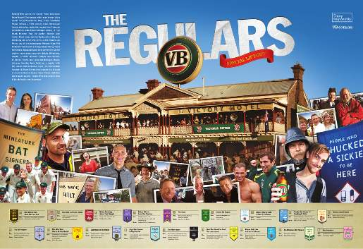 VB The Regulars Newspaper Lift Out print advertisement