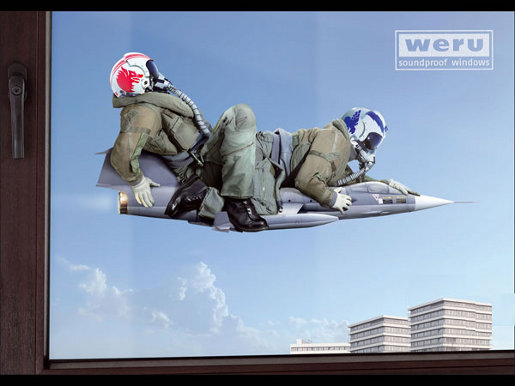 Weru Soundproof Windows print advertisement