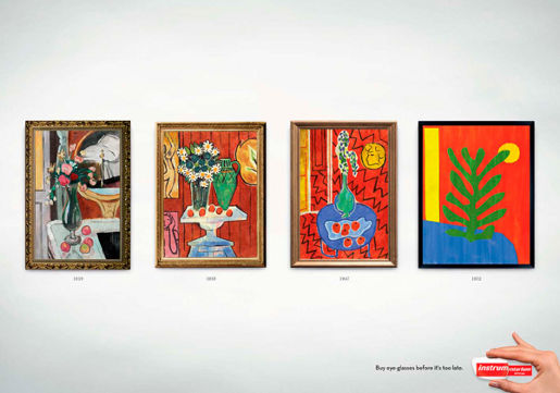 Instru print advertisement featuring Matisse art work