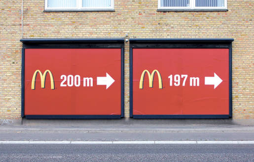 McDonalds Billboards 200 m and 197 m