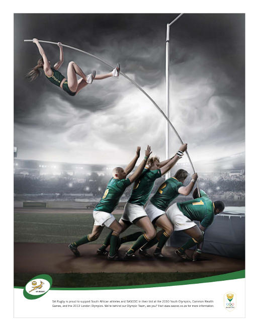 SA Rugby Pole Vault team