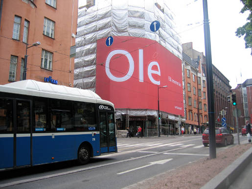 Santander Simon Street outdoor advertisement