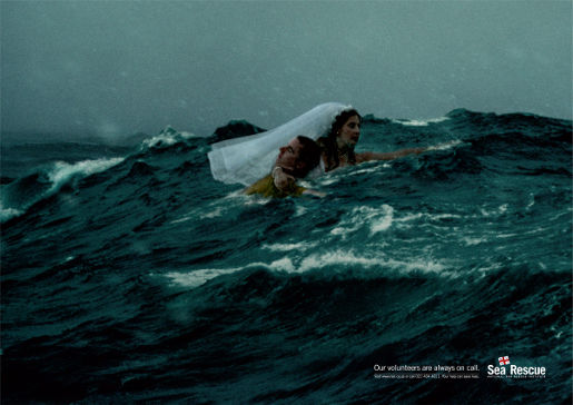 Volunteer in National Sea Rescue print advertisement
