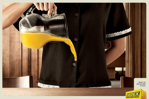 Sedex Juice print advertisement