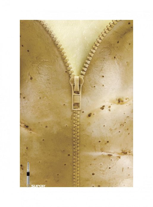 Supor Potato Zip print advertisement