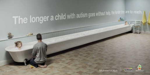 Bath in Talk About Autism print advertisement