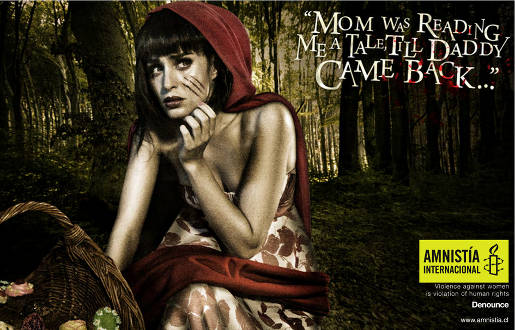 Amnesty Red Riding Hood print advertisement