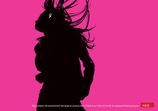 Hearing  Magenta Poster for NFD