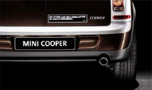 Mini Cooper Bumper sticker