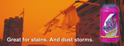 Napisan Great for Dust Storms print advertisement