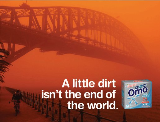 Omo Sydney Harbour Bridge advertisement