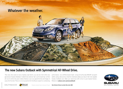 Subaru Whatever The Weather print advertisement
