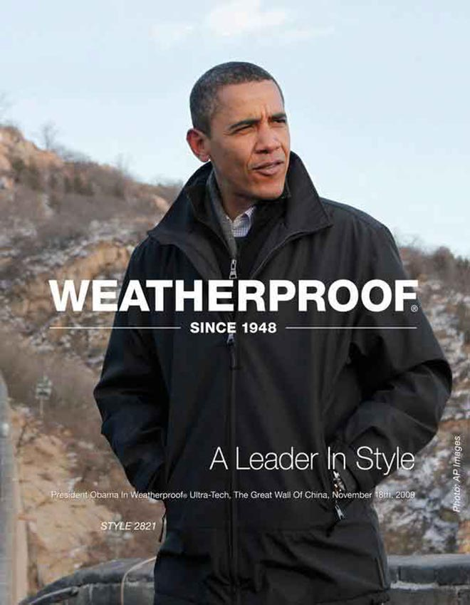 Barack Obama Waterproof jacket poster