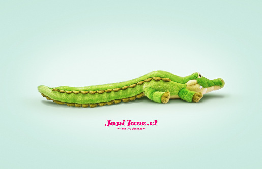Japi Jane Crocodile soft toy