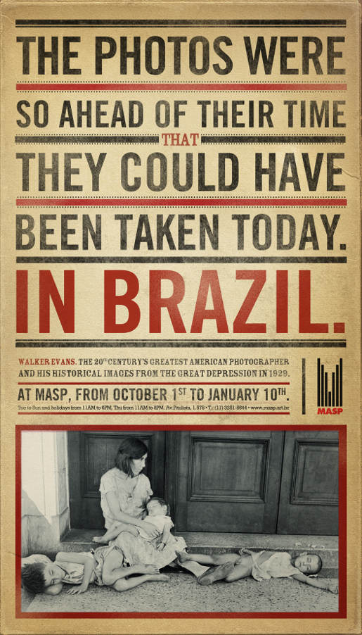 MASP Walker Evans Brazil print advertisement