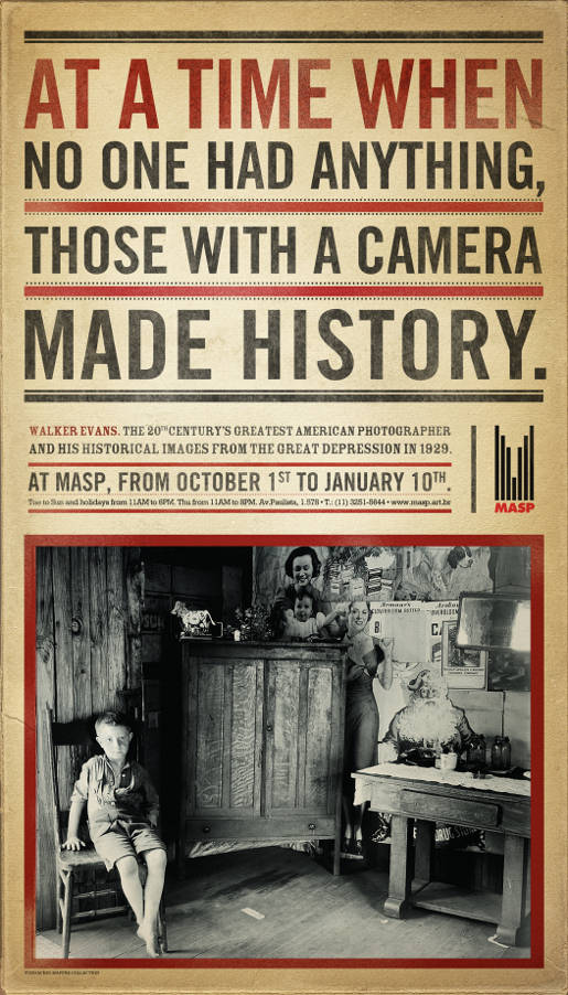 MASP Walker Evans Camera print advertisement