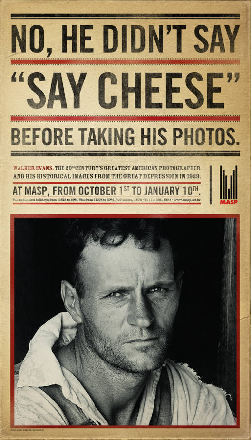 MASP Walker Evans Cheese print advertisement