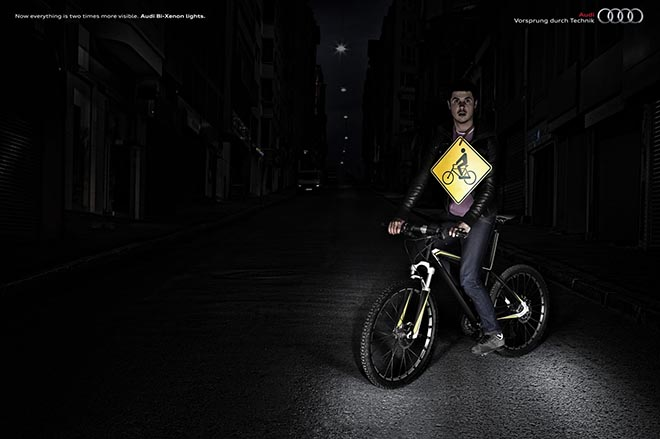 Audi Bi-Xenon Bicycle ad