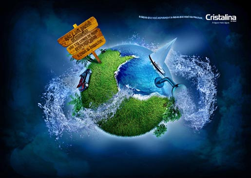 Cristalina Shower Water waste ad