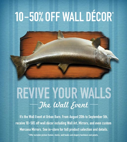 Urban Barn Wall Event Fish print ad
