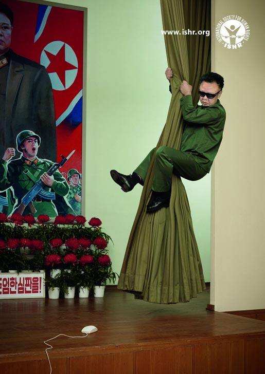Kim Jong Il and Mouse in ISHR print ad