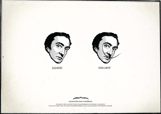Movember Salvadore Dali Bizarre or Brilliant