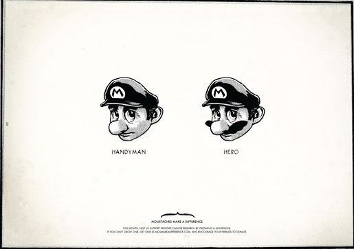 Movember Super Mario Handyman or Hero